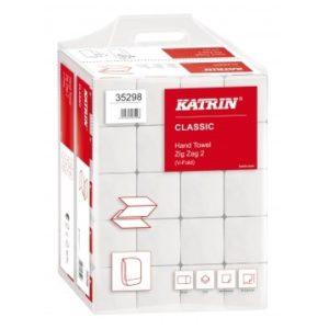 katrin skladané papierové utierky biele 2 vrstvy