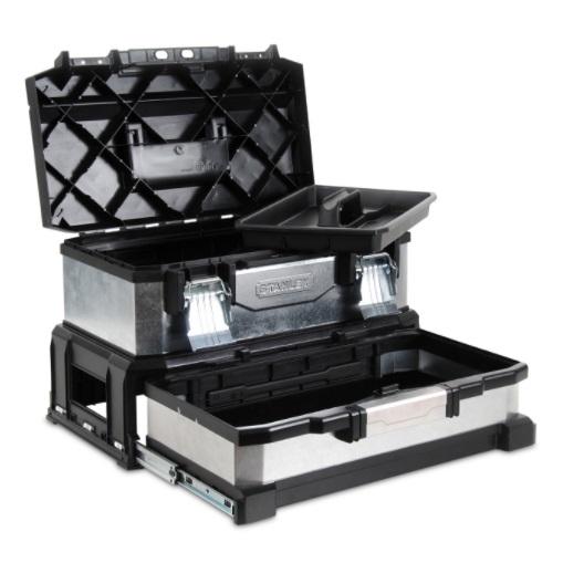 stanley kovoplastový galvanizovaný box na náradie so zásuvkou