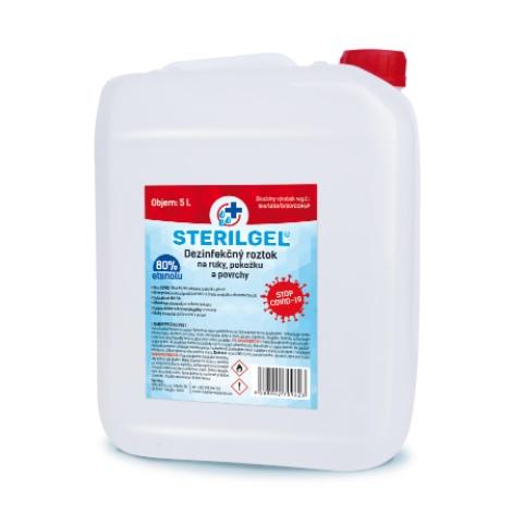 sterilgel dezinfekčný roztok 80 % alkohol, 5 l