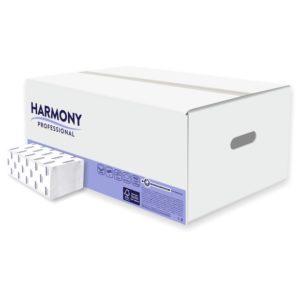 harmony skladané papierové utierky biele 2 vrstvy